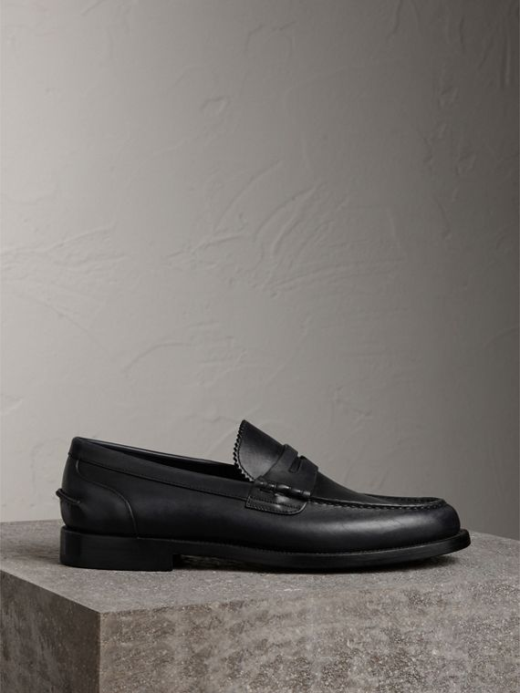 Penny loafer in pelle (Nero)