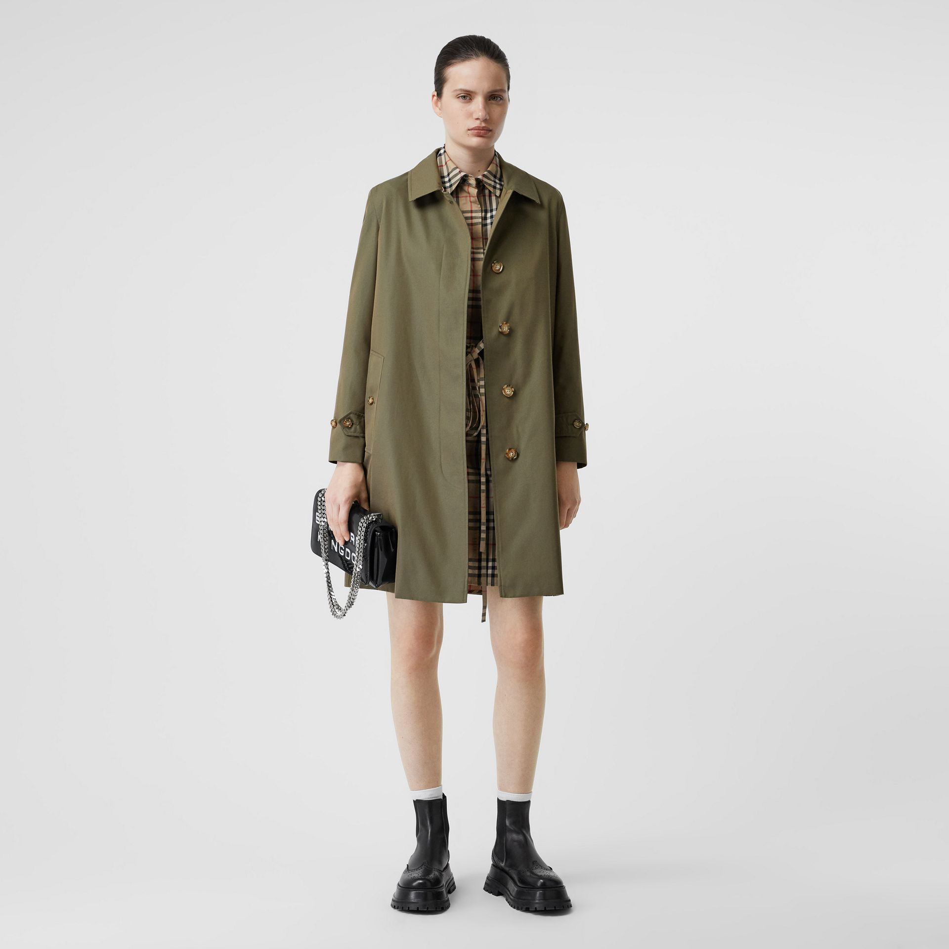 The Pimlico Heritage Car Coat in Oregano - Women | Burberry Canada - gallery image 0