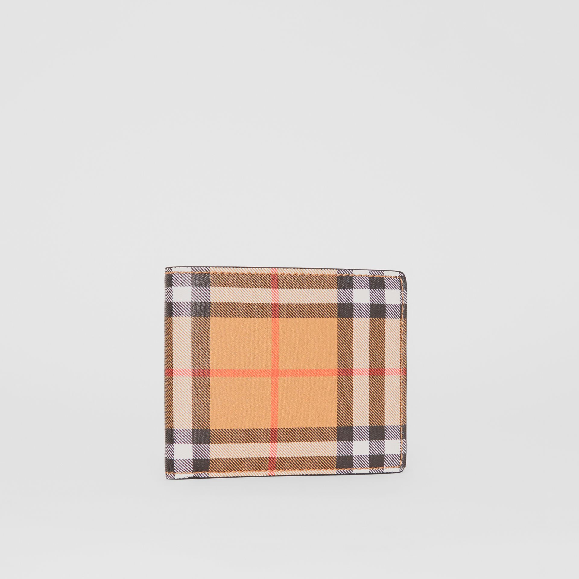 Vintage Check Leather ID Wallet in Black - Men | Burberry Australia - gallery image 3