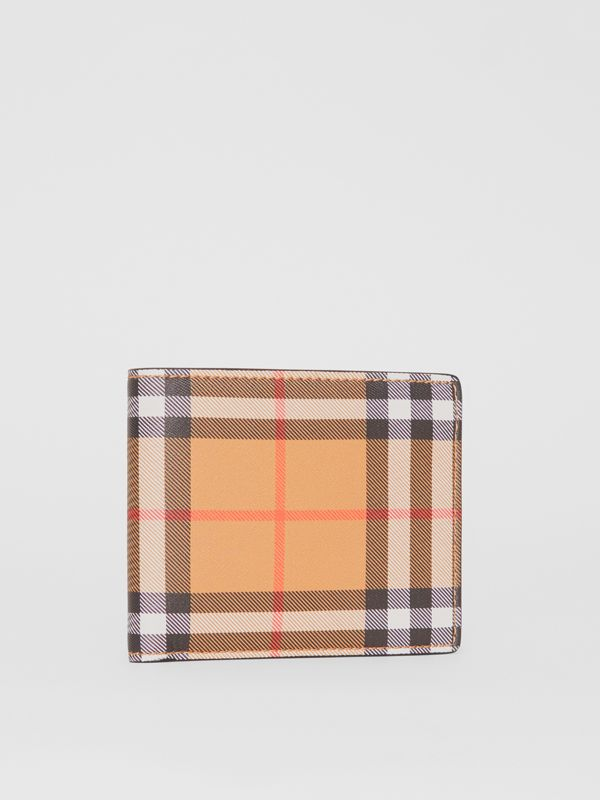 Vintage Check Leather ID Wallet in Black - Men | Burberry - cell image 3