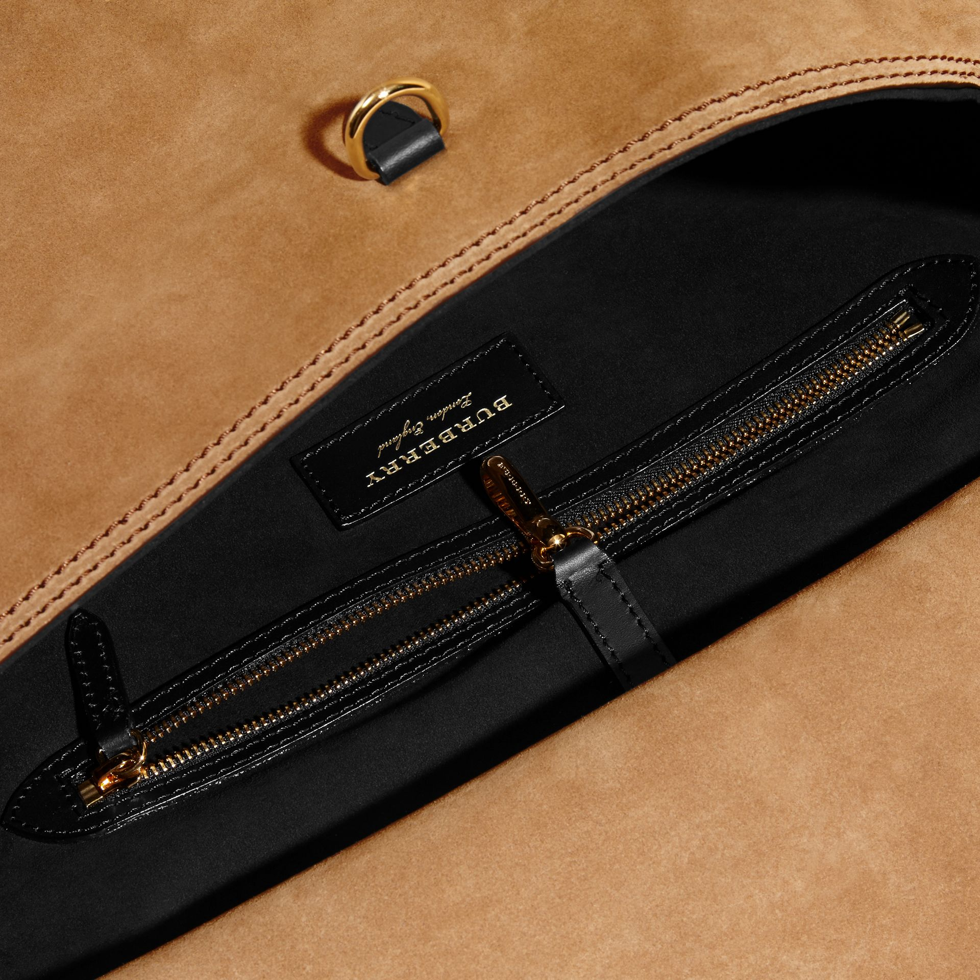 The Medium Bridle in Suede in Flax - Men | Burberry - gallery image 6