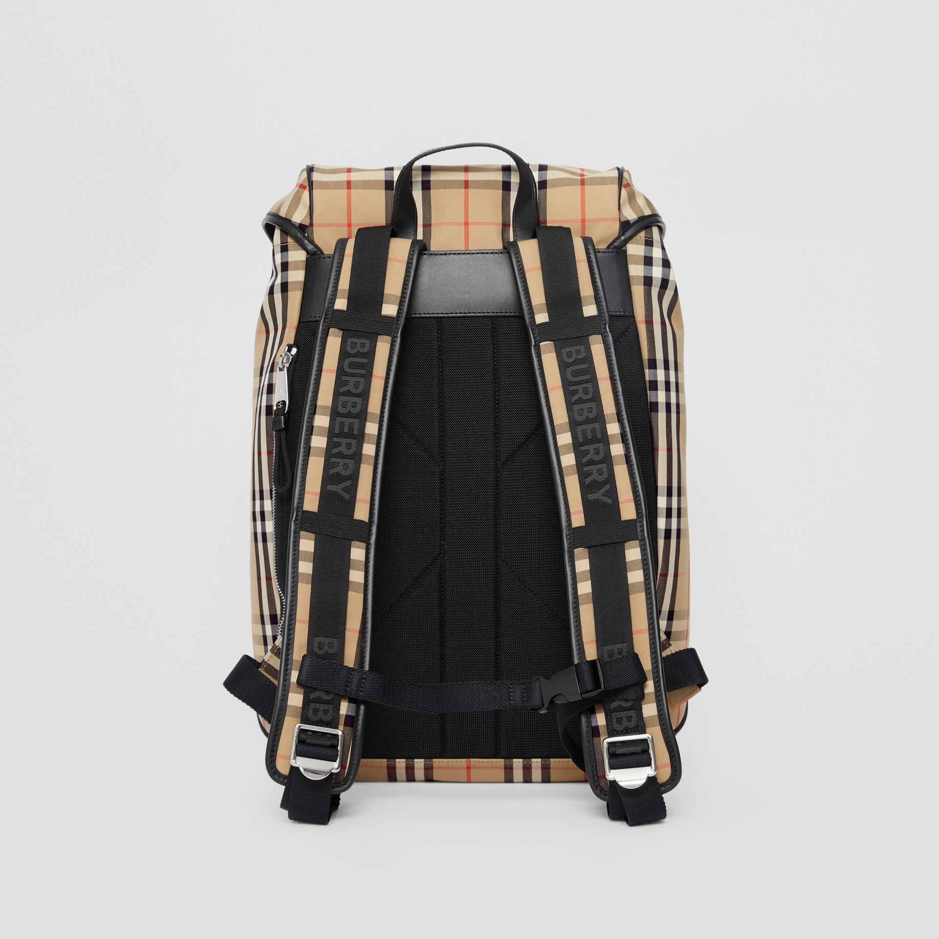 Logo Detail Vintage Check Backpack in Archive Beige | Burberry United Kingdom - gallery image 9