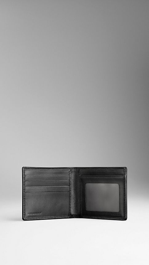 Black London Leather ID Wallet - Image 3