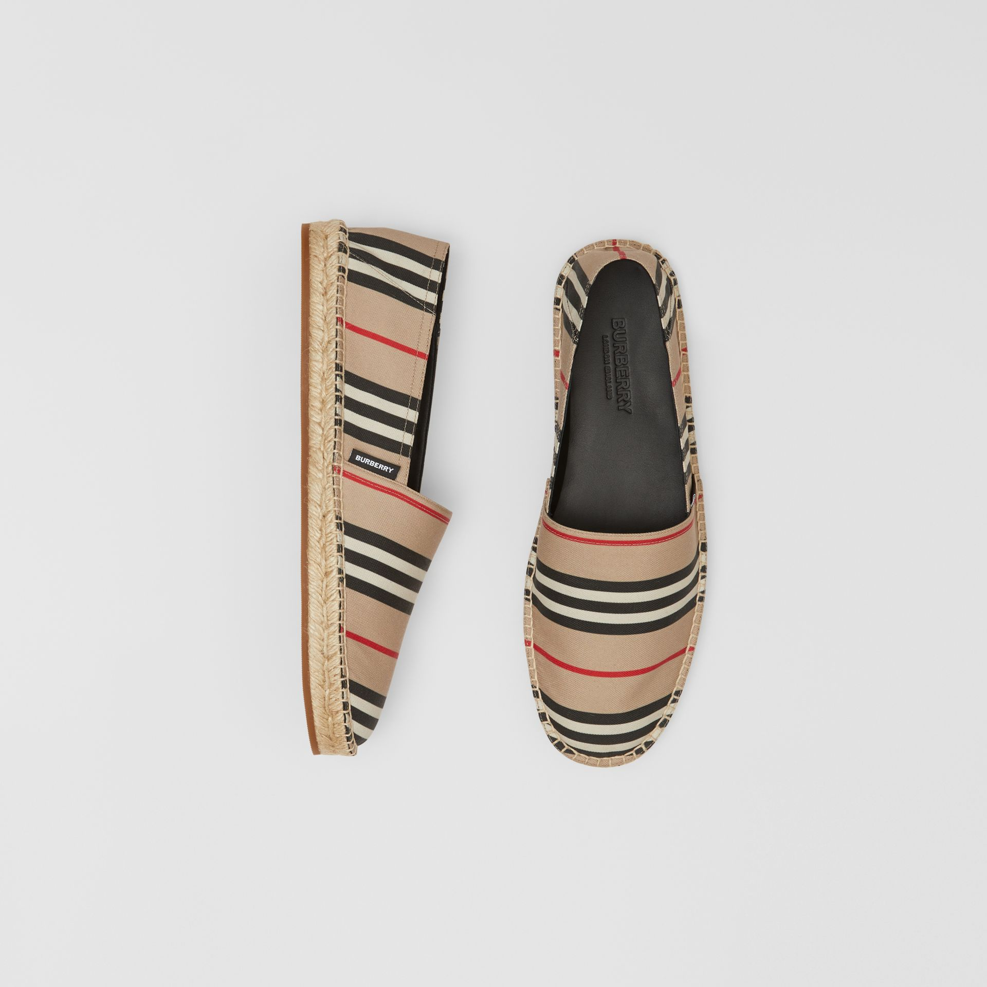 Icon Stripe Espadrilles in Archive Beige - Men | Burberry United Kingdom - gallery image 0