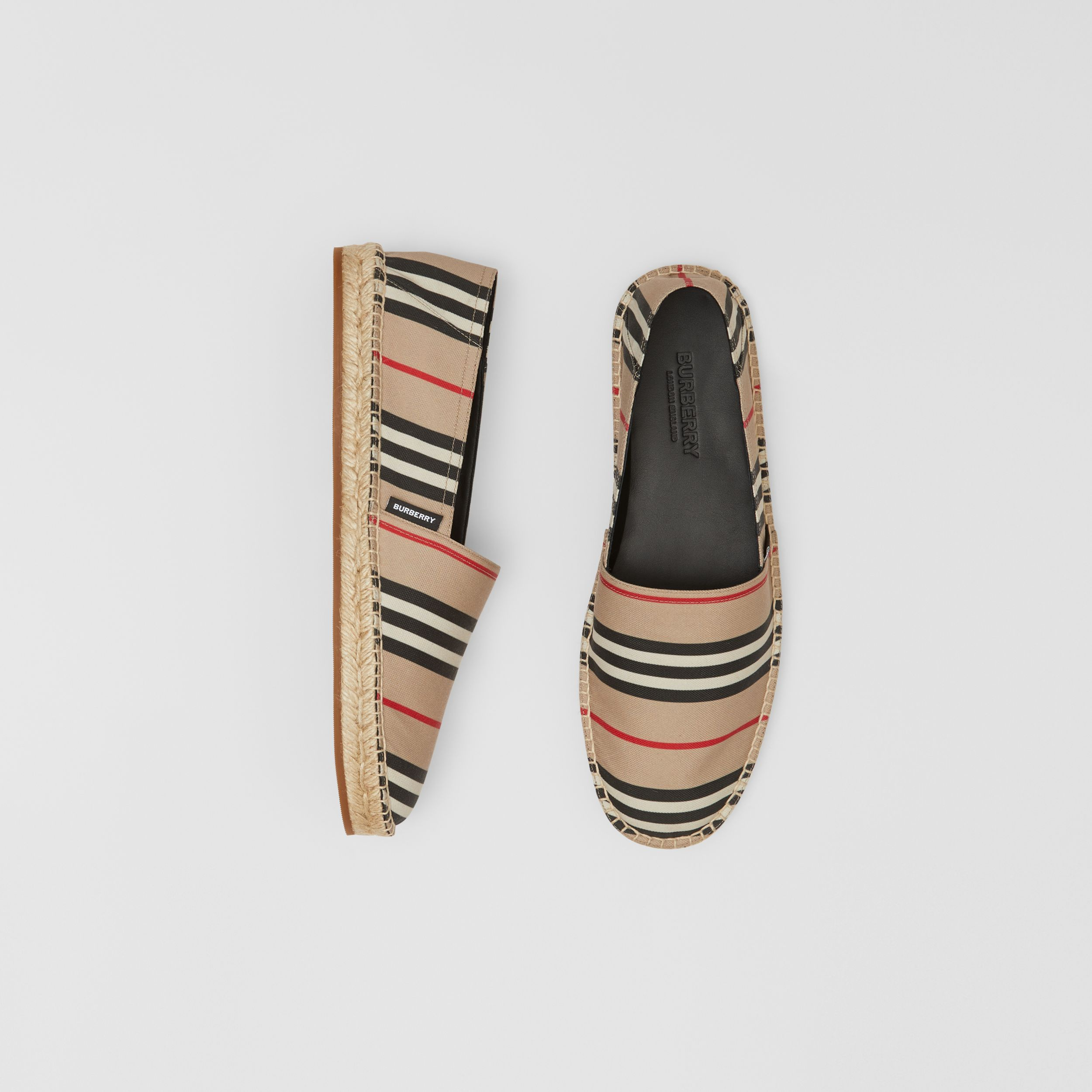 Icon Stripe Espadrilles in Archive Beige - Men | Burberry Canada - 1