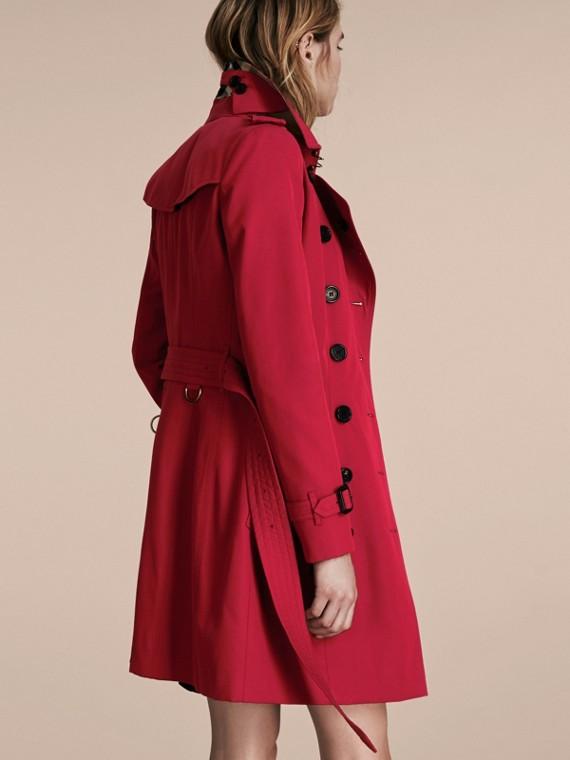 Rojo desfile Trench coat Chelsea – Trench coat Heritage de longitud media Rojo Desfile - cell image 2