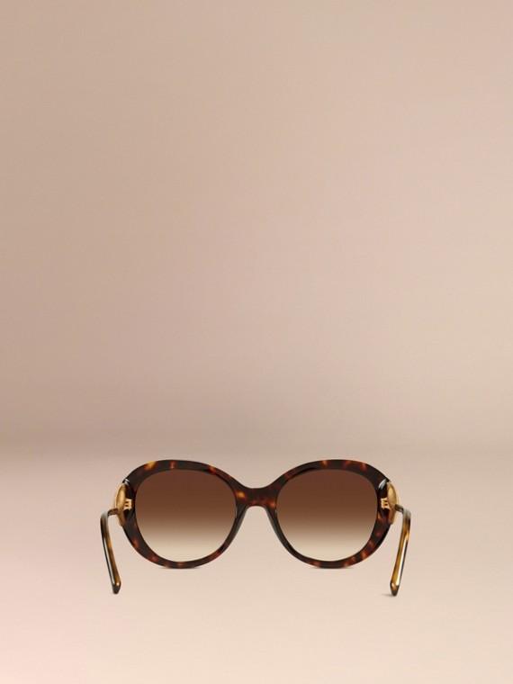 Ebony Gabardine Collection Oversize Round Frame Sunglasses Ebony - cell image 3