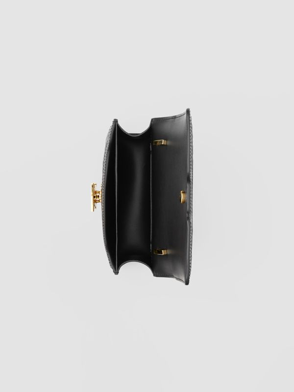 Mini Quilted Monogram Lambskin TB Bag in Black - Women | Burberry - cell image 3