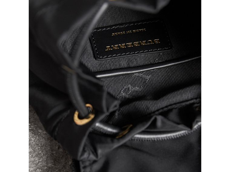The Small Rucksack in Technical Nylon and Leather in Black - Women | Burberry Hong Kong - cell image 4