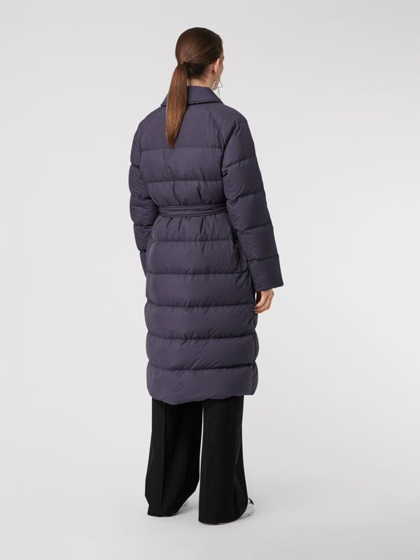 Belted Long Down-filled Puffer Coat in Navy - Women | Burberry - cell image 2
