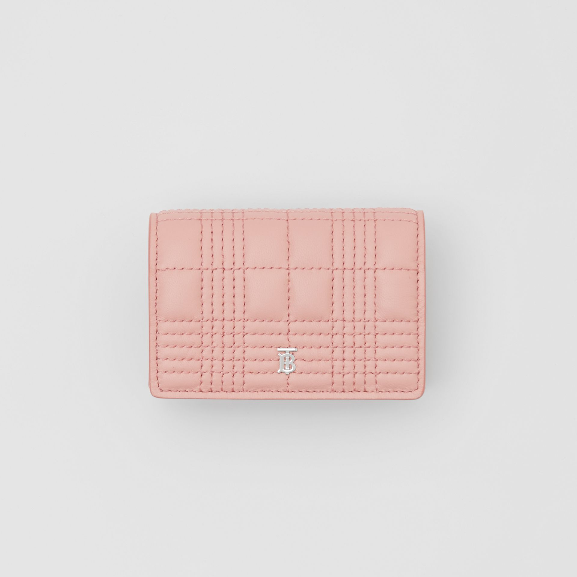 Quilted Lambskin Card Case with Detachable Strap in Blush Pink | Burberry - gallery image 3