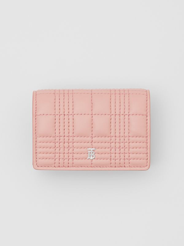 Quilted Lambskin Card Case with Detachable Strap in Blush Pink | Burberry - cell image 3