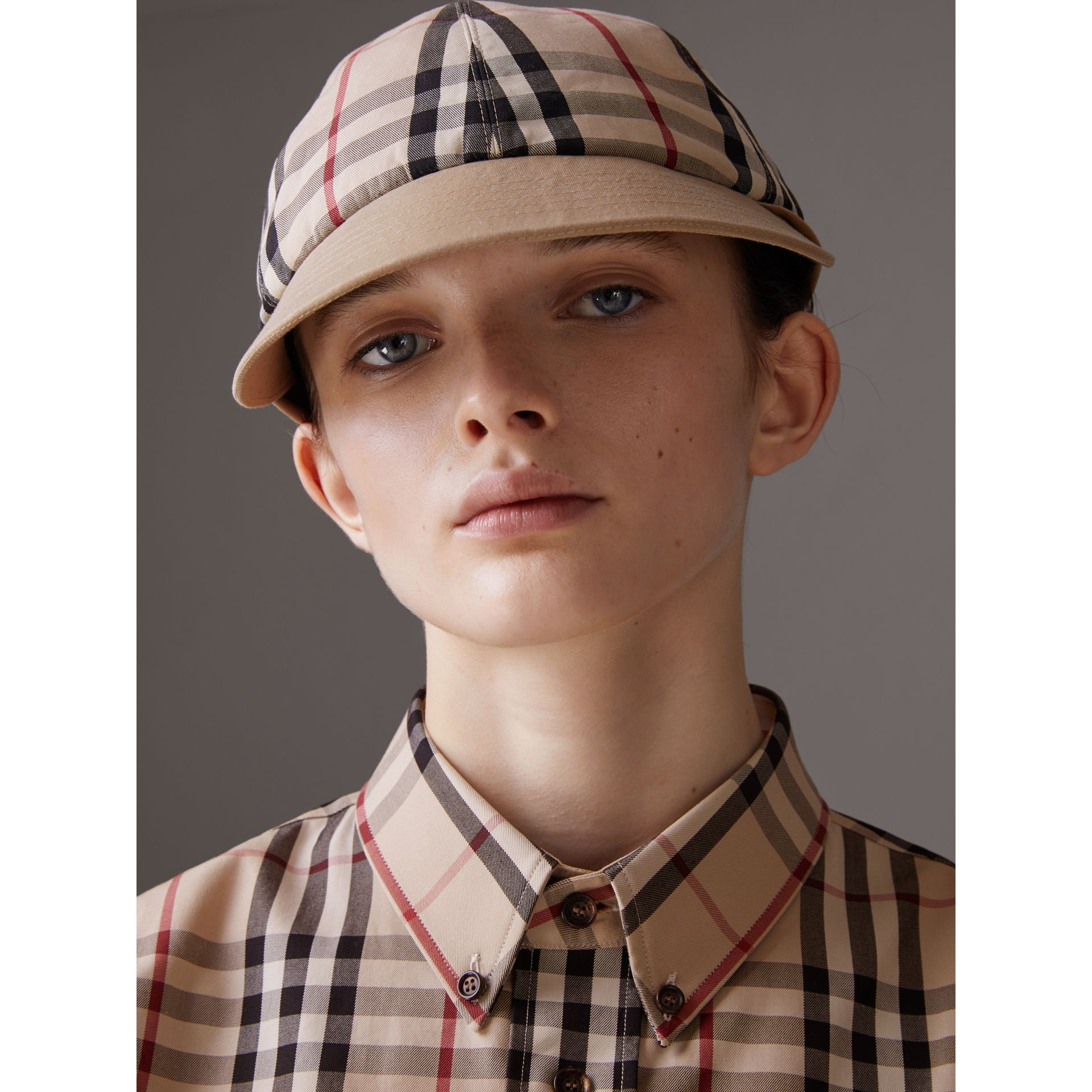 Gosha x Burberry Baseball Cap in Honey | Burberry Singapore - gallery image 3
