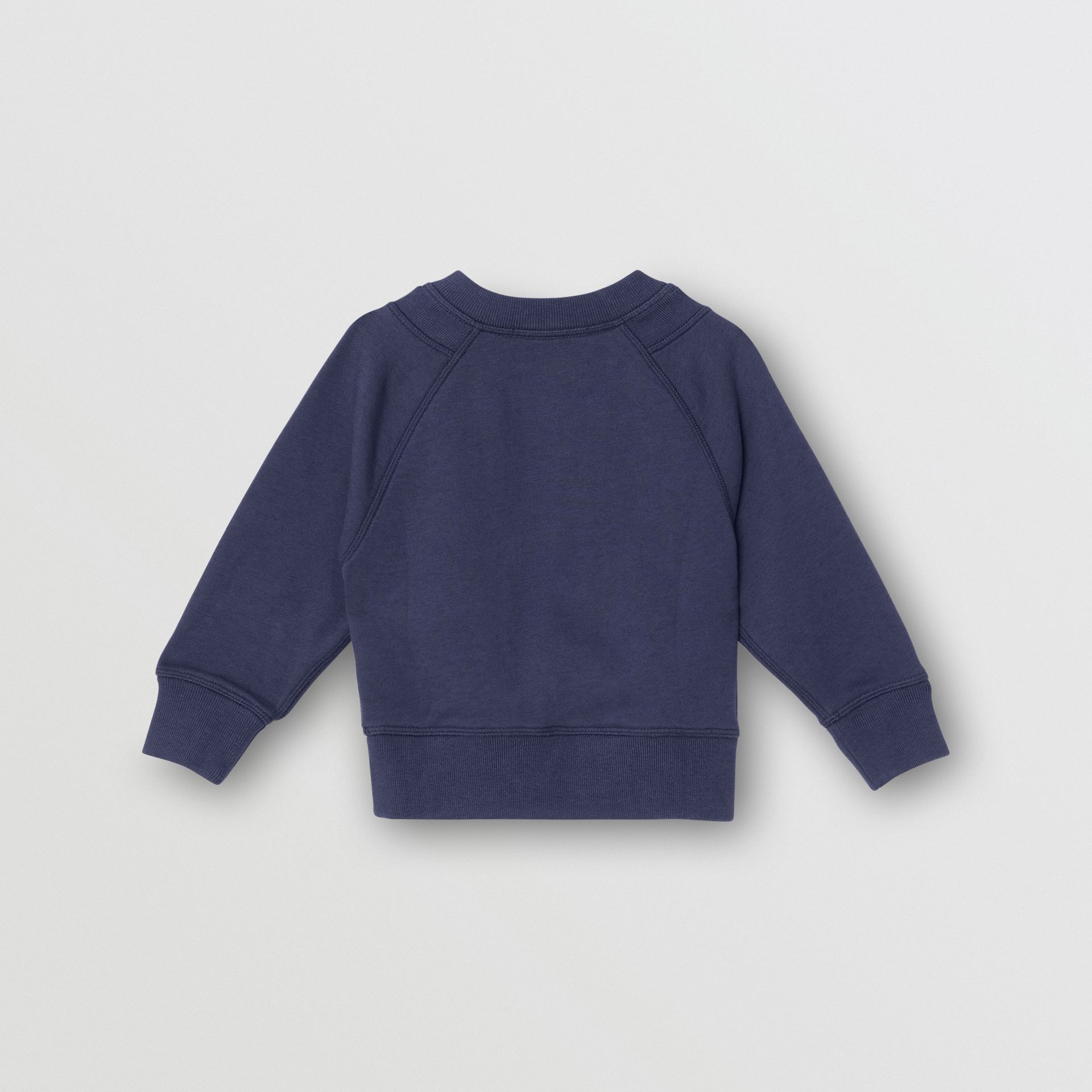 Kingdom Motif Cotton Sweatshirt in Slate Blue Melange - Children | Burberry Australia - gallery image 3