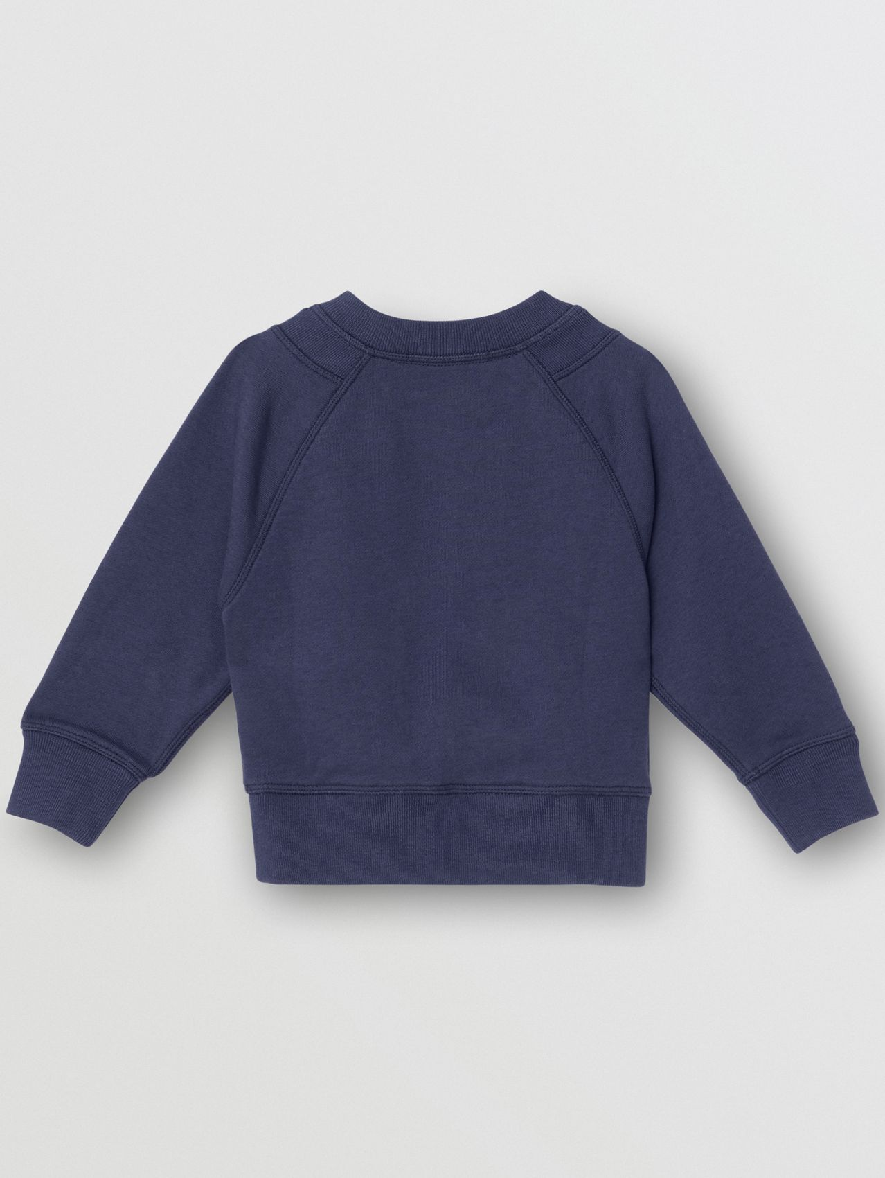 Kingdom Motif Cotton Sweatshirt (Slate Blue Melange)