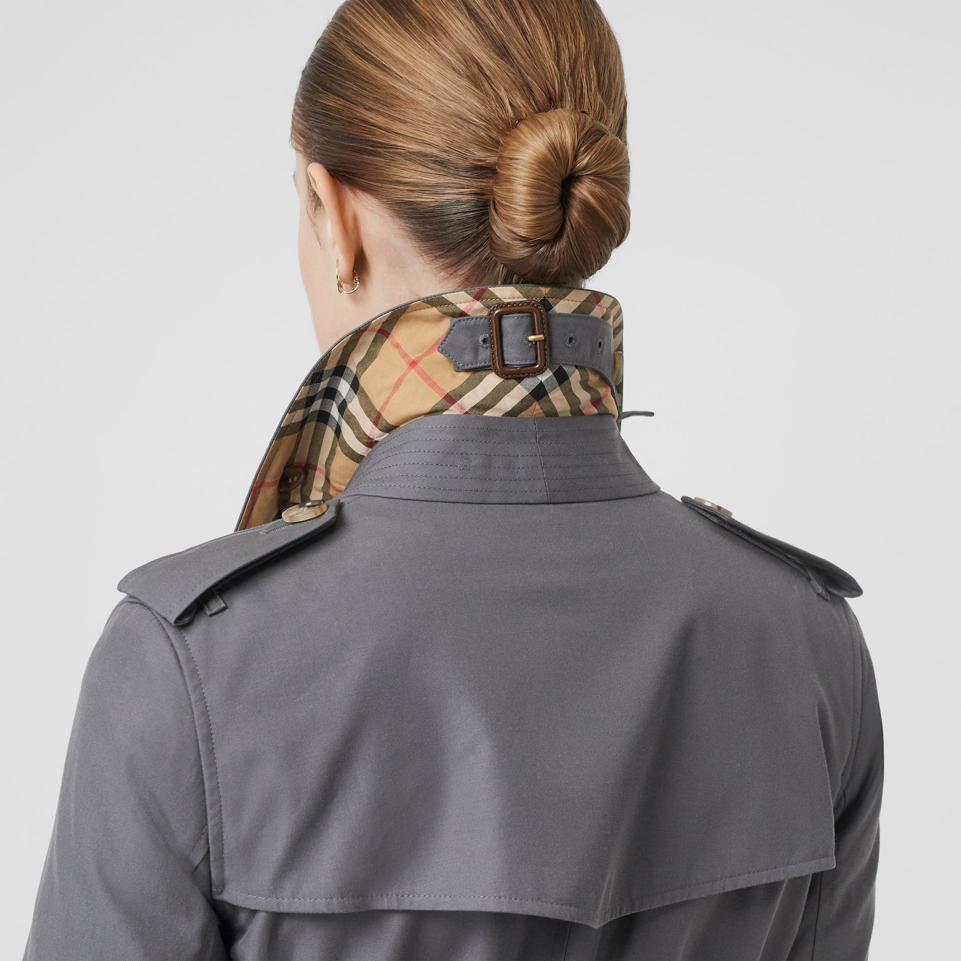 Trench Heritage The Kensington (Gris Moyen) - Femme | Burberry Canada - photo de la galerie 5