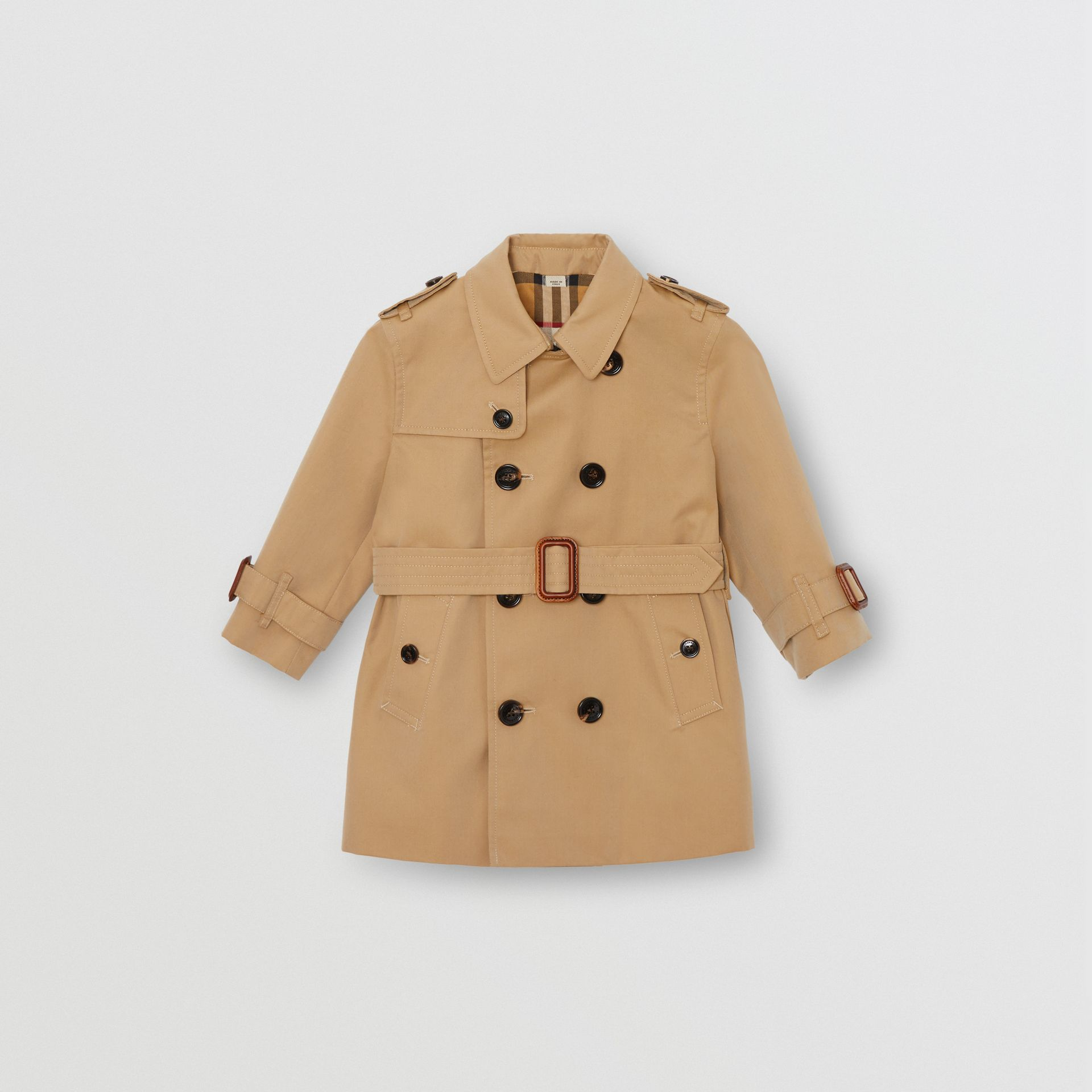 Cotton Gabardine Trench Coat in Honey - Children | Burberry Australia - gallery image 0