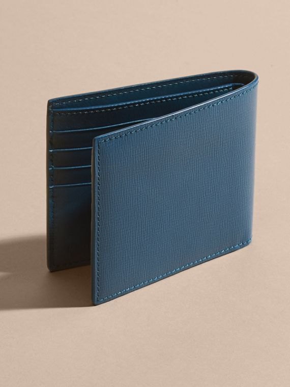 Mineral blue London Leather Folding Wallet Mineral Blue - cell image 3