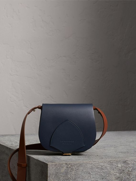 The Satchel in Leather in Indigo