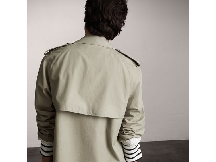 Unisex Tropical Gabardine Trench Jacket in Slate Green - Men | Burberry - cell image 1