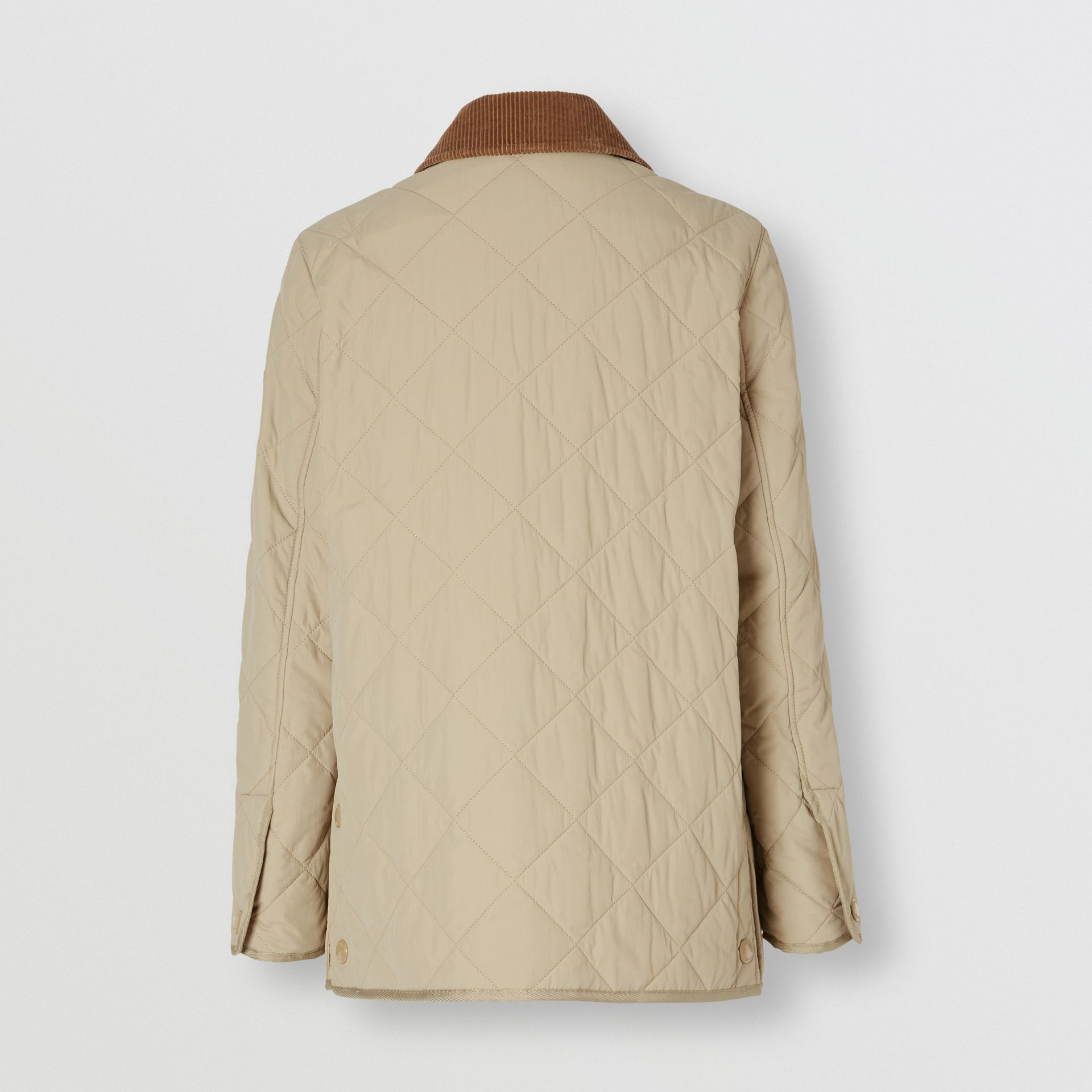 Diamond Quilted Thermoregulated Barn Jacket in Honey - Women | Burberry - gallery image 7