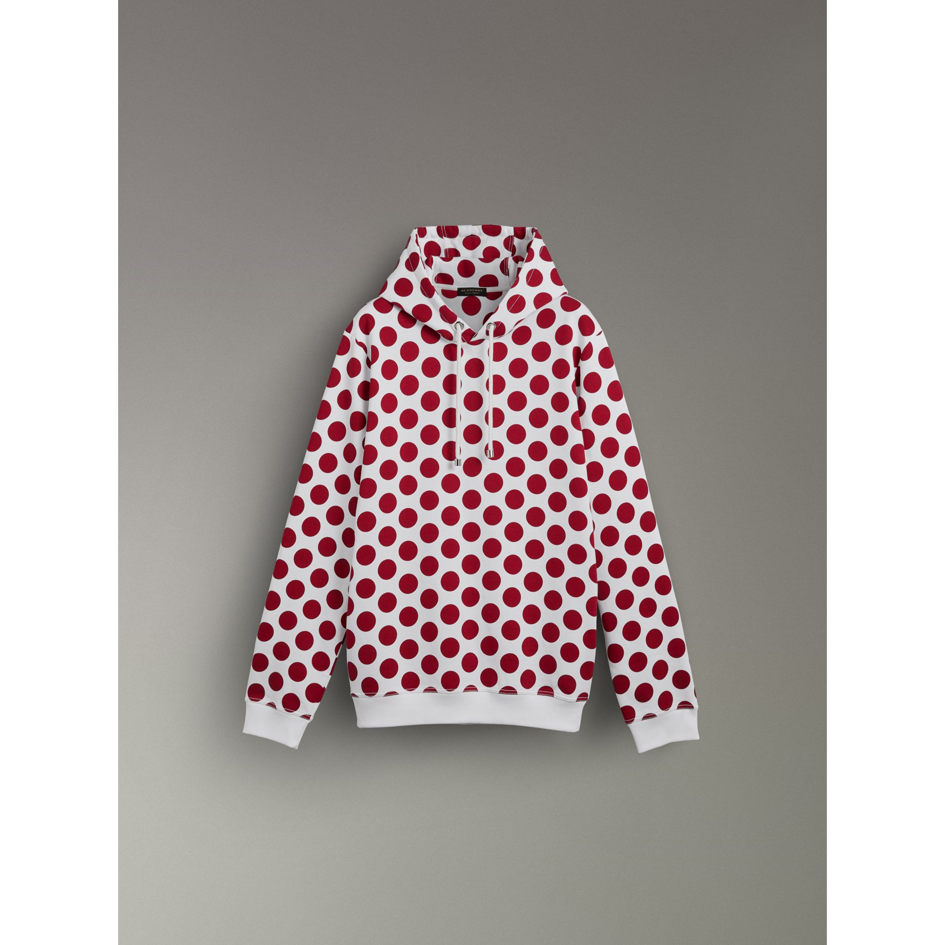 Spot Print Hoodie in Windsor Red - Women | Burberry United Kingdom - gallery image 3
