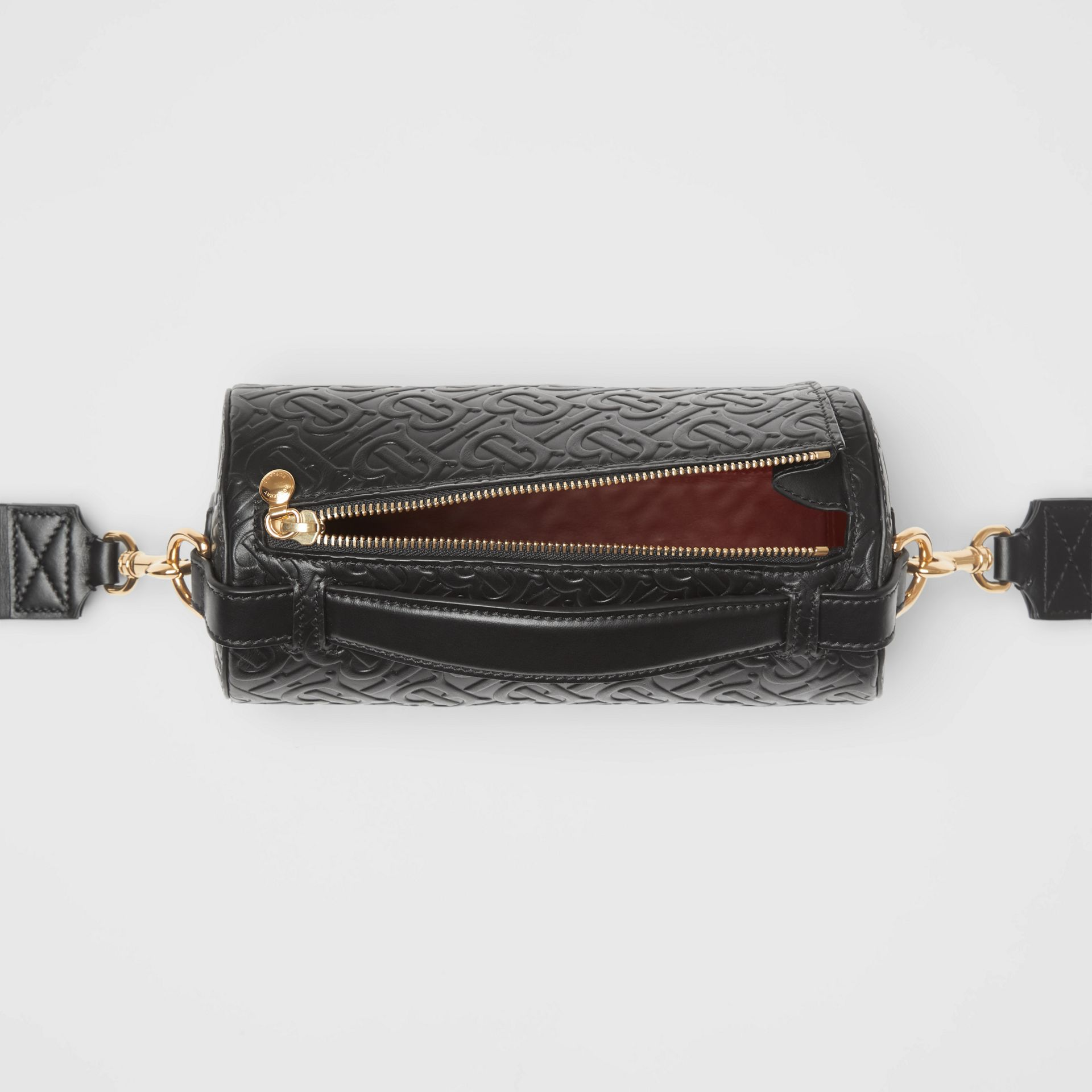The Barrel Bag aus Leder mit Monogrammmuster (Schwarz) - Damen | Burberry - Galerie-Bild 4