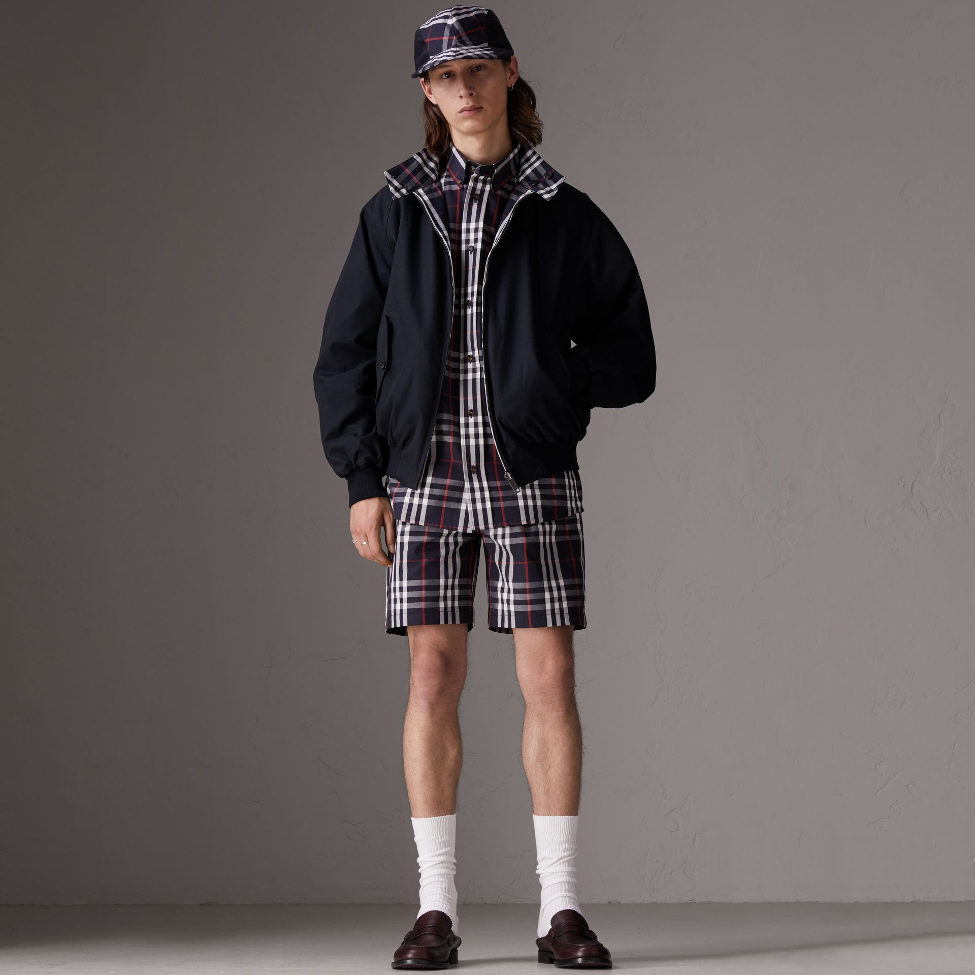 Gosha x Burberry Reversible Harrington Jacket in Navy | Burberry United Kingdom - gallery image 0
