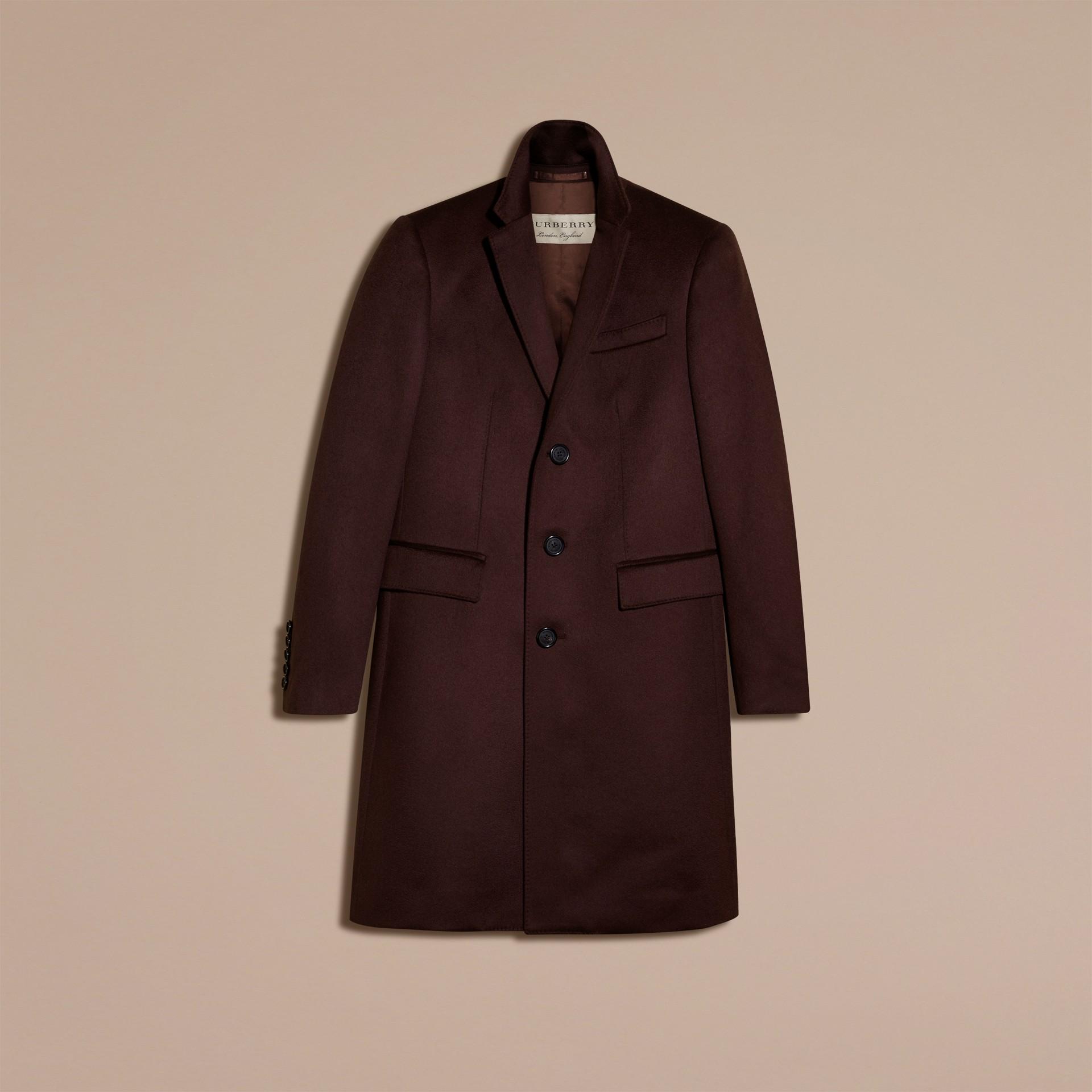 Plum Cashmere Overcoat - gallery image 4