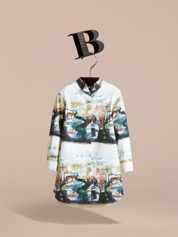 Reclining Figure: Bunched Print Shirt Dress - Girl | Burberry - cell image 2