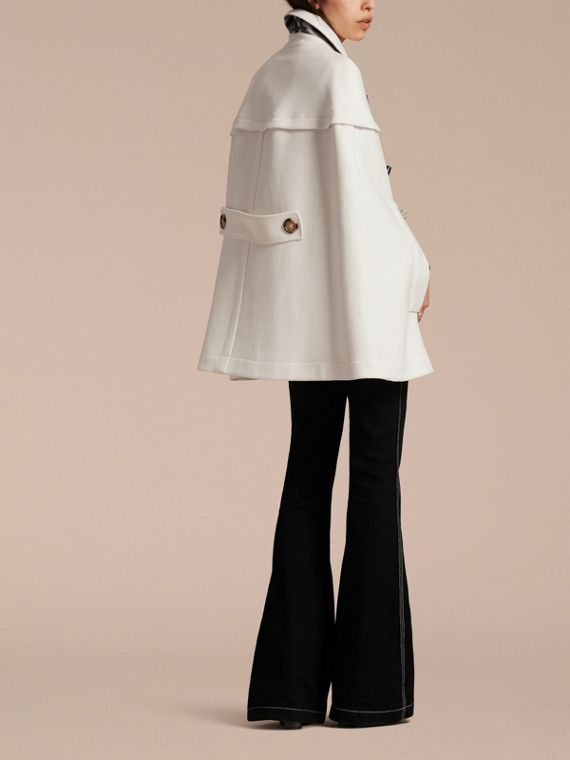 Natural white Wool Cashmere Duffle Cape Coat Natural White - cell image 2