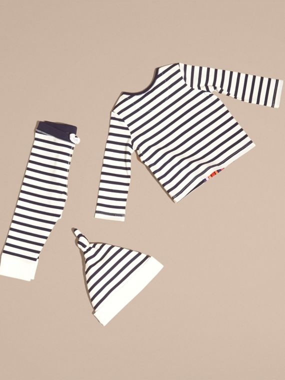 Striped Cotton Three-piece Baby Gift Set - cell image 2