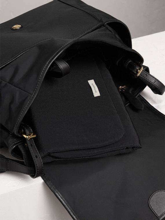 Check-quilted Baby Changing Shoulder Bag in Black | Burberry Canada - cell image 3