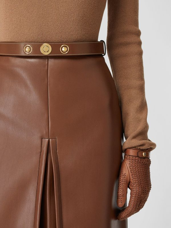 Triple Stud Leather Belt in Tan - Women | Burberry - cell image 2