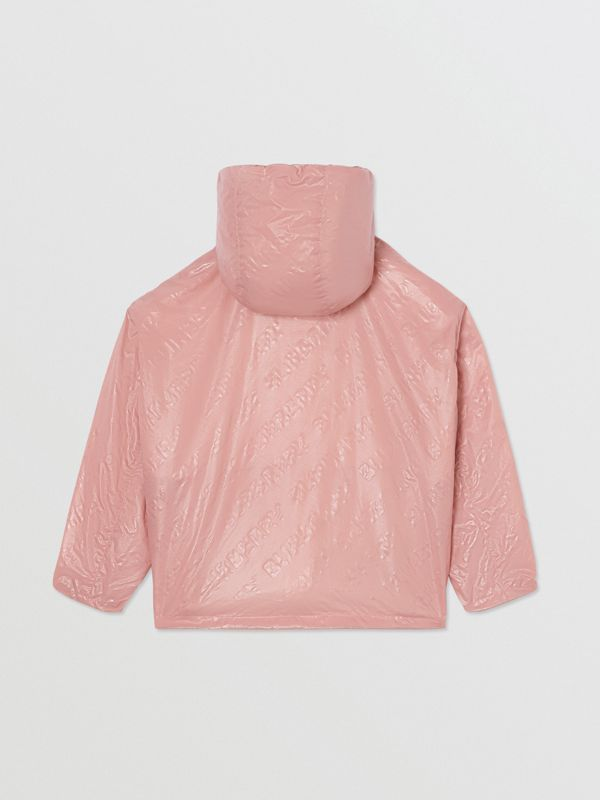 Logo Print Lightweight Hooded Jacket in Dusty Pink - Girl | Burberry United Kingdom - cell image 3