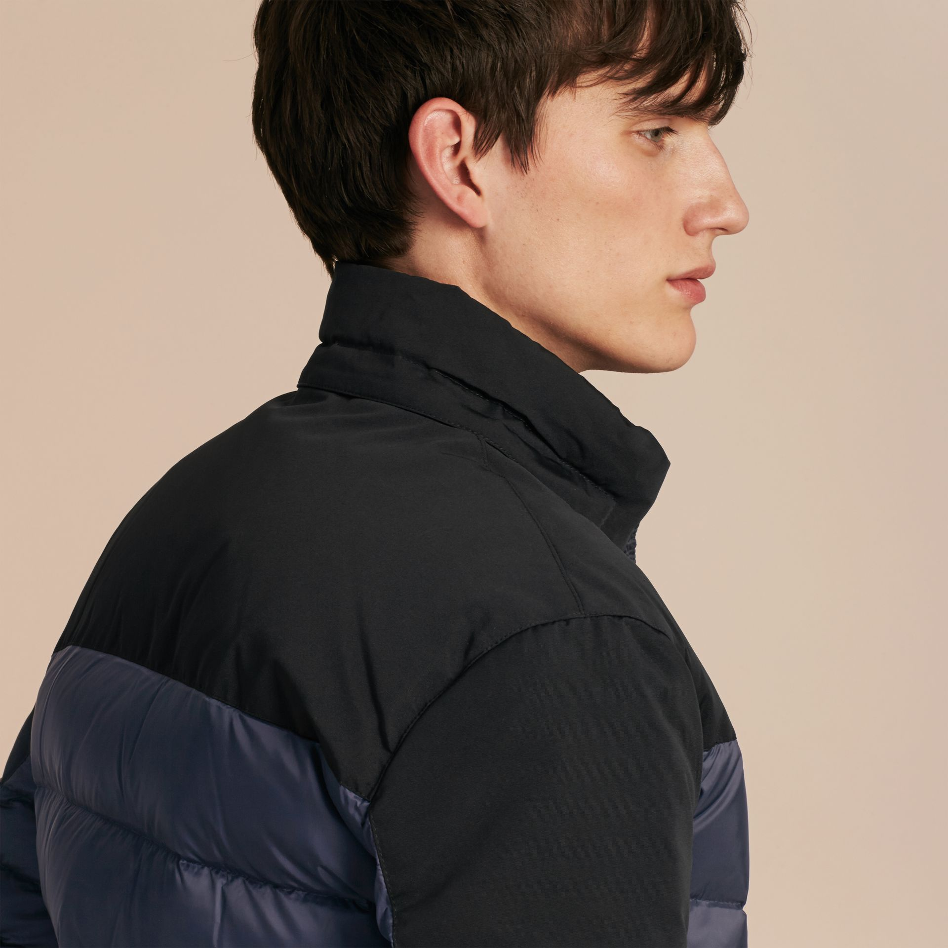 Navy Mid-weight Down-filled Technical Puffer Jacket Navy - gallery image 5