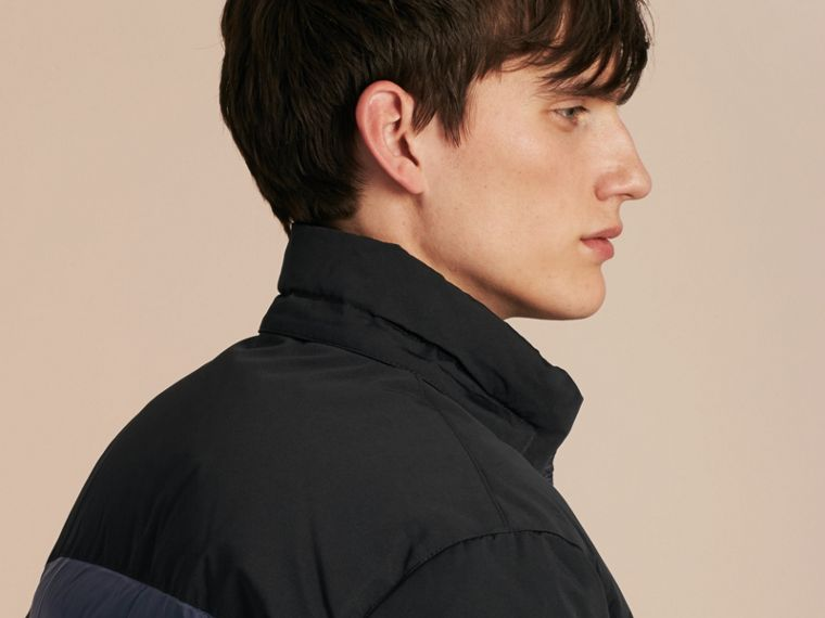 Navy Mid-weight Down-filled Technical Puffer Jacket Navy - cell image 4