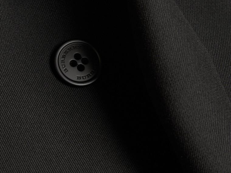 Nero Trench coat in twill di lana dal taglio comodo - cell image 1