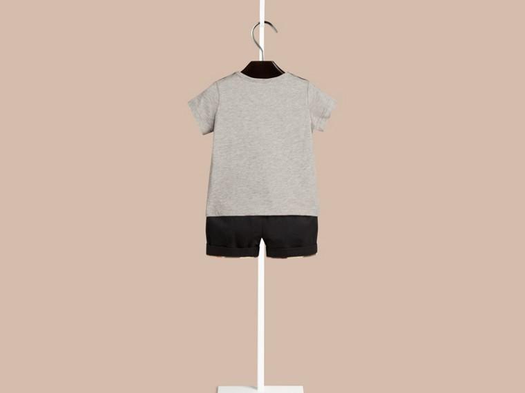 그레이 멜란지 치타 그래픽 코튼 티셔츠 그레이 멜란지 - cell image 1