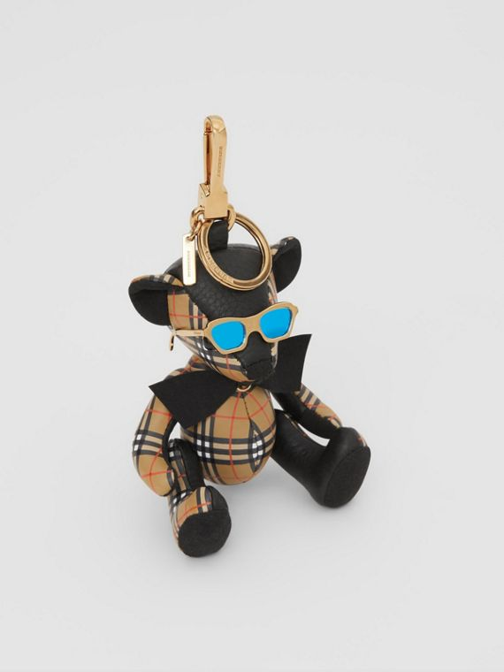 Thomas Bear Charm in Sunglasses in Black/antique Yellow