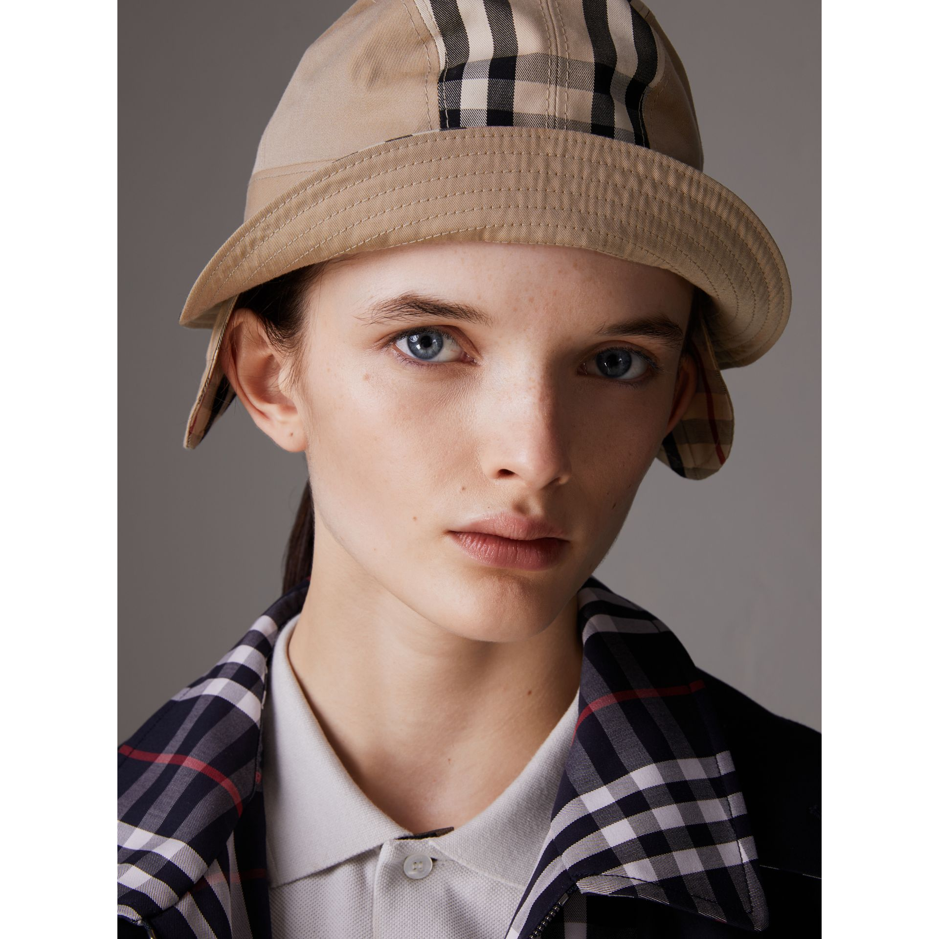 Gosha x Burberry Bucket Hat in Honey | Burberry - gallery image 5