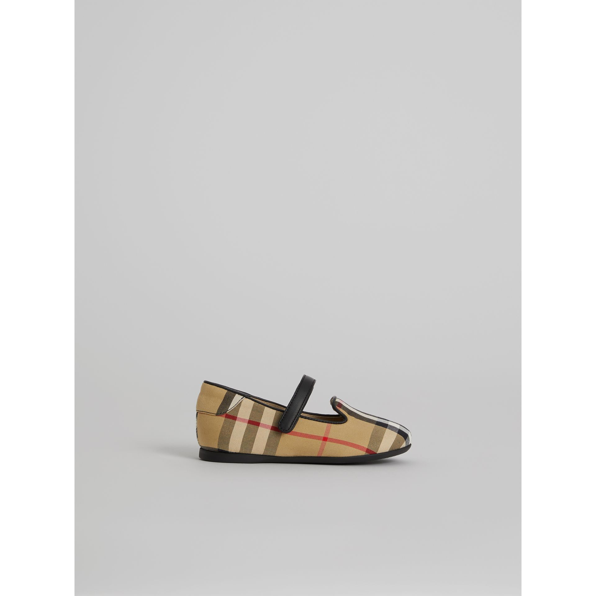 D-ring Strap Vintage Check Slippers in Antique Yellow | Burberry - gallery image 3