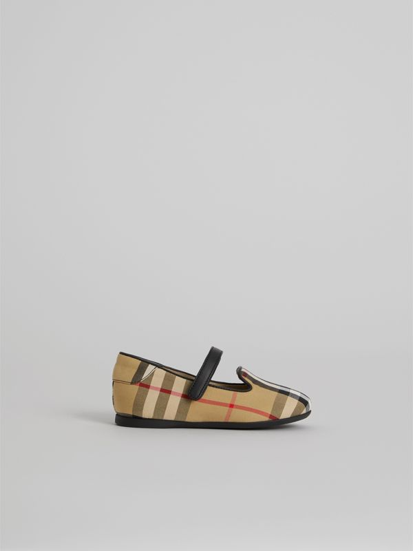 Slipper im Vintage Check-Design mit D-Ring-Riemen (Antikgelb) - Kinder | Burberry - cell image 3