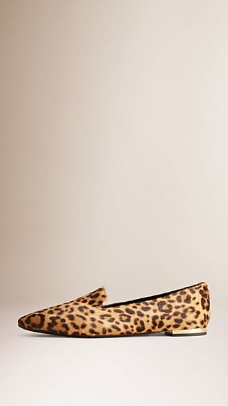 Animal Print Calfskin Loafers
