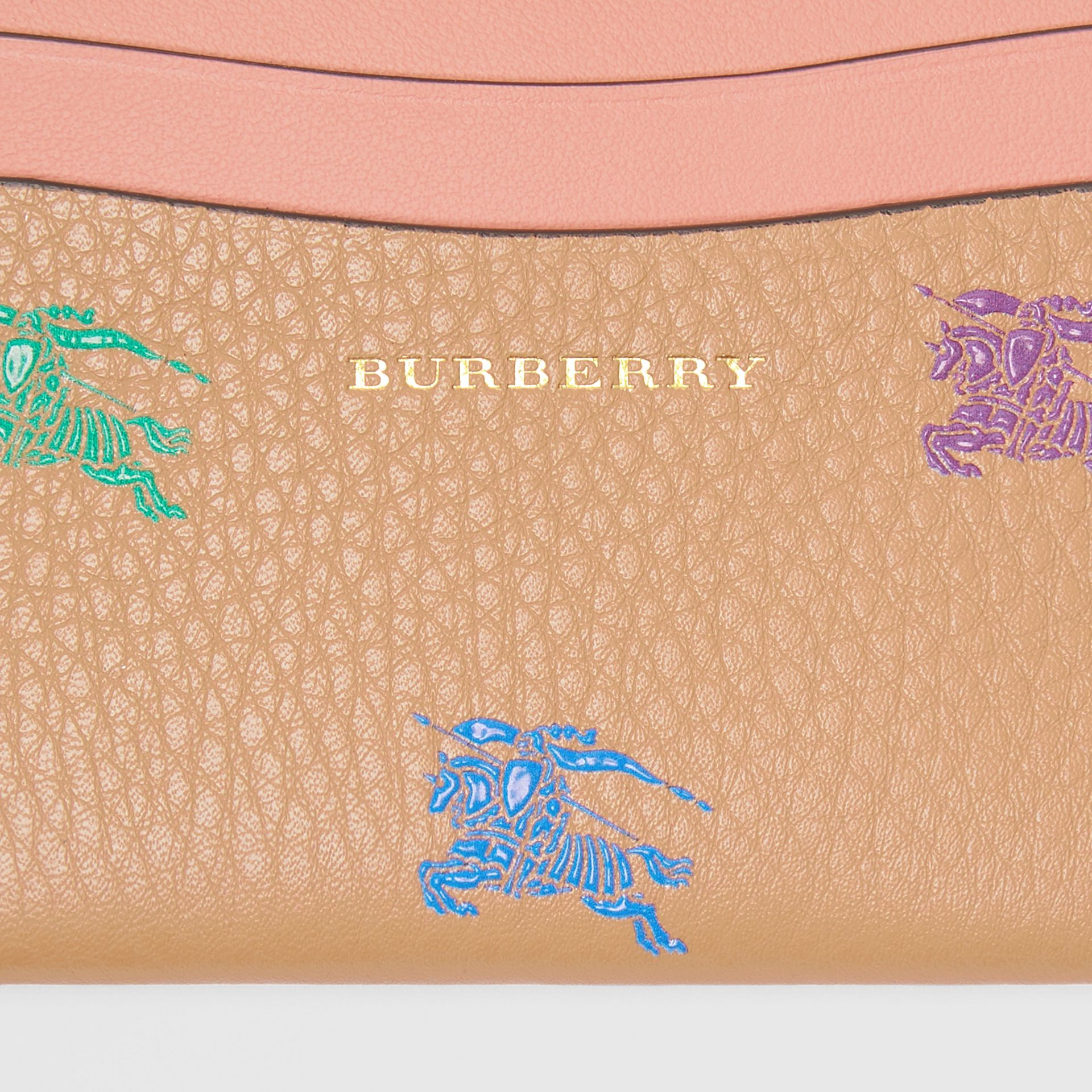 EKD Leather Card Case in Camel - Women | Burberry United States - gallery image 1