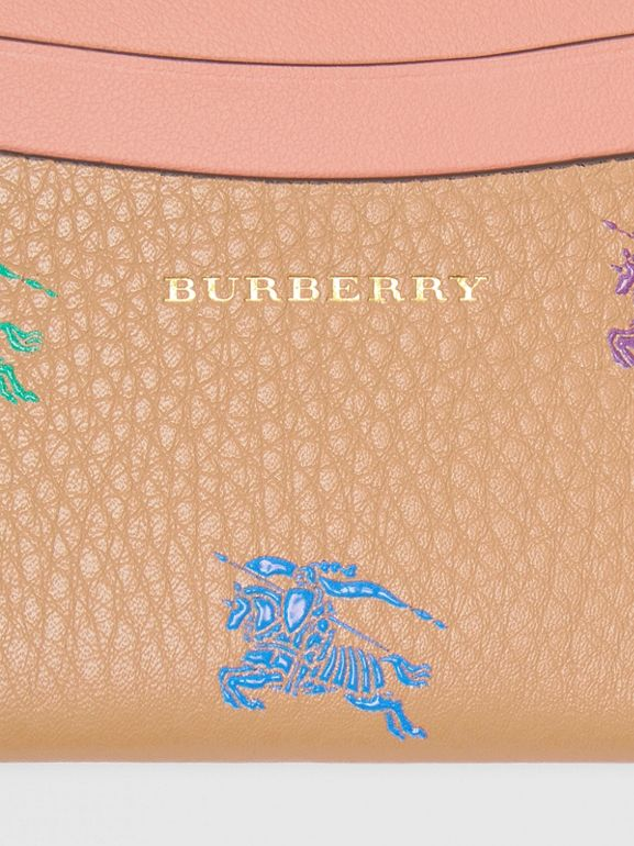 EKD Leather Card Case in Camel - Women | Burberry United States - cell image 1