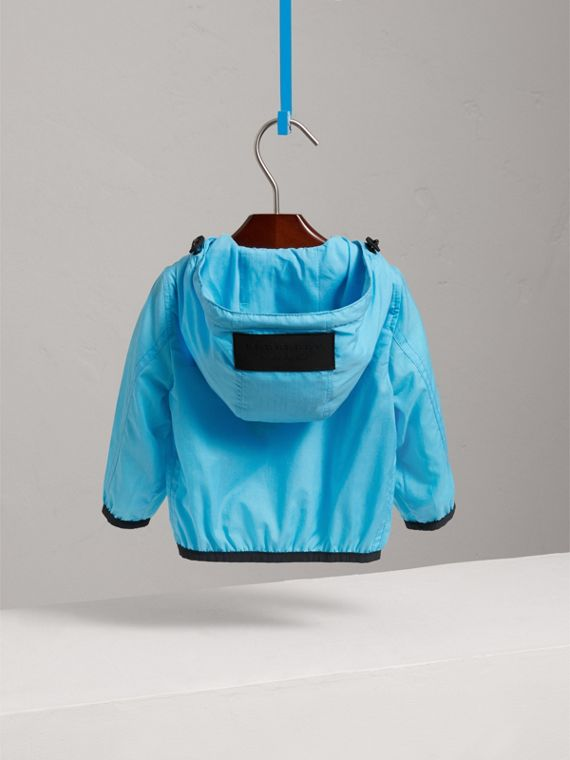 Showerproof Hooded Jacket in Bright Turquoise | Burberry Singapore - cell image 3