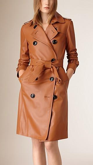 Lambksin Trench Coat