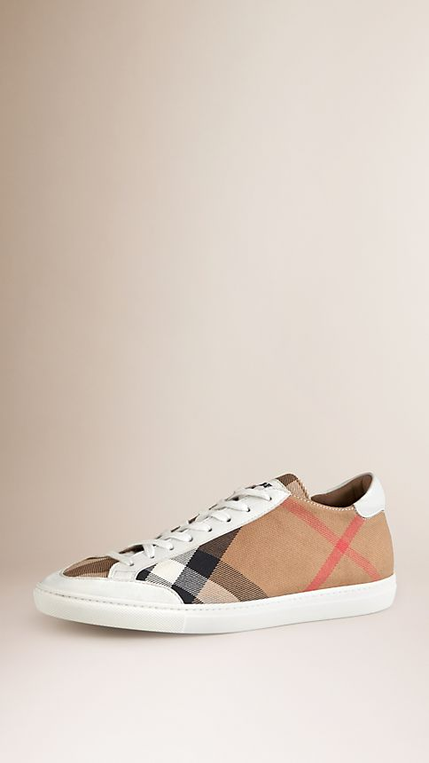 White House Check Trainers - Image 1