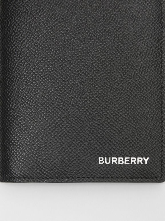Grainy Leather Passport Holder in Black - Men | Burberry United States - cell image 1